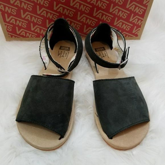 8ef879d147d9 Vans Leila Hurst Ankle Hi Black Sandal